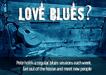 Pete Hincks' blues guitar club sessions are held weekly in Milton Keynes